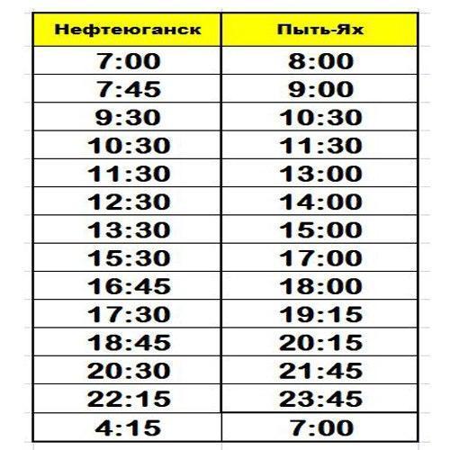 Маршрутное Такси Нефтеюганск - Пыть-ях
